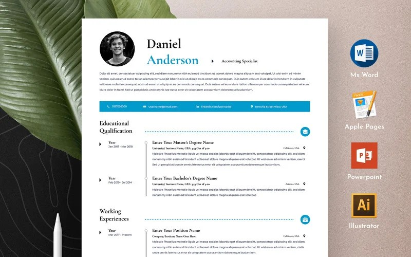 Sumry is the ultimate job resource. Free Clean Professional Editable Word Apple Pages Cv Resume Template