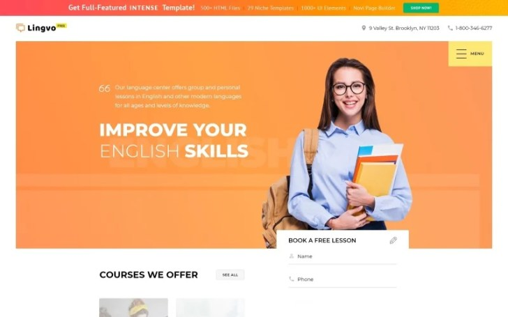 Free Website Template - Learning Center Website Template