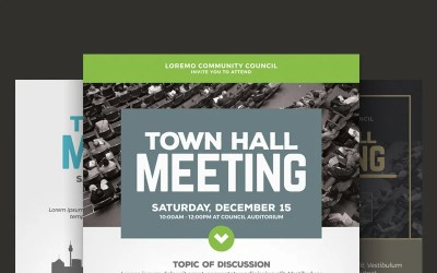 Town Hall Meeting Flyer PSD Template #66046