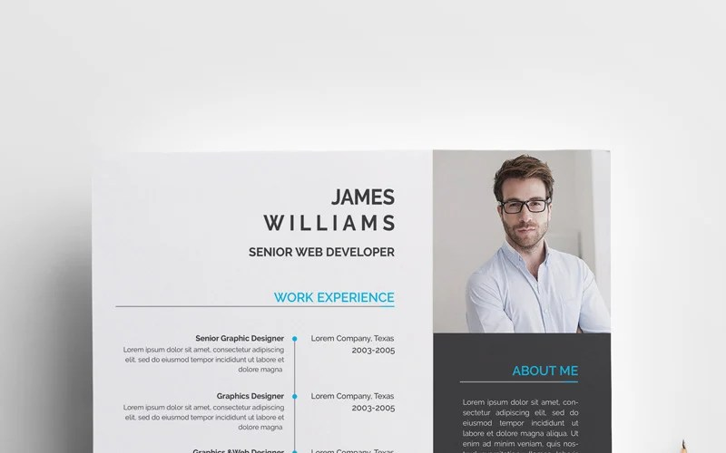 Add java developer skills and keywords taken from the company's job ad. James Graphic Web Developer Resume Template