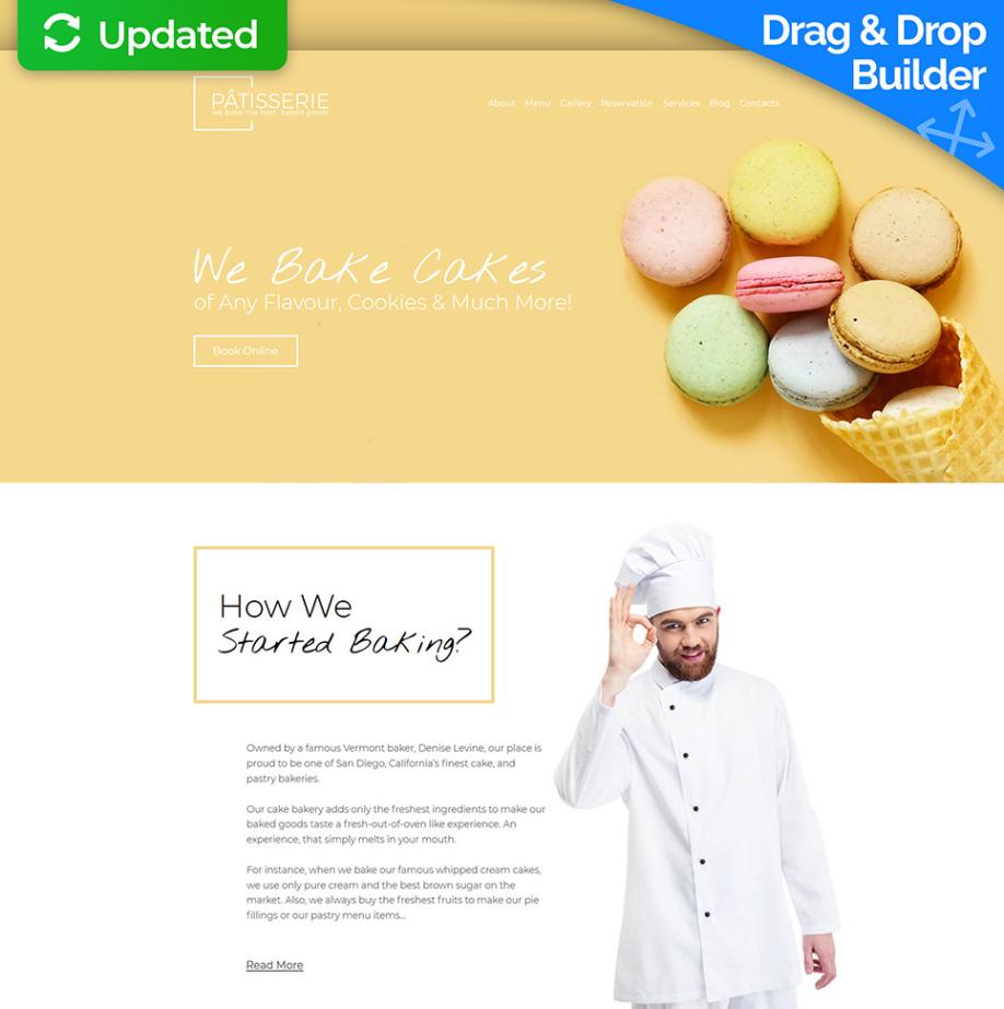 Cake Shop Website Template For Bakery Sweet Store Motocms