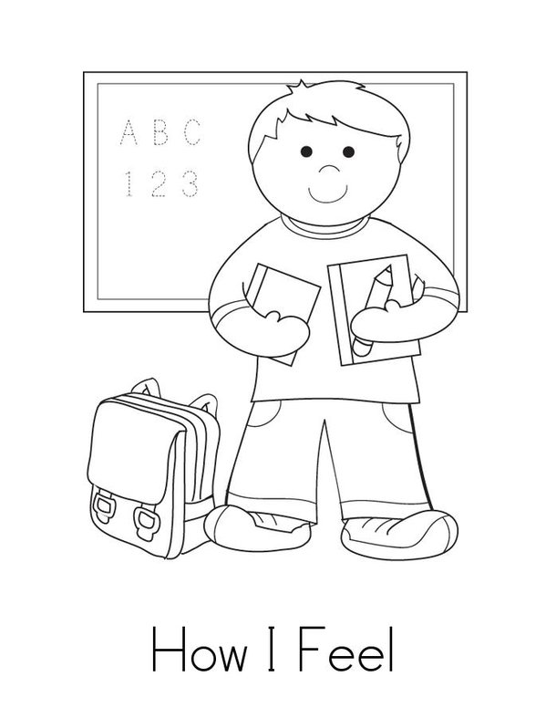 Feelings Book Printable Coloring Pages