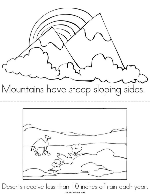 Landform On A Map Coloring Pages