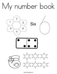 My number book Coloring Page - Twisty Noodle