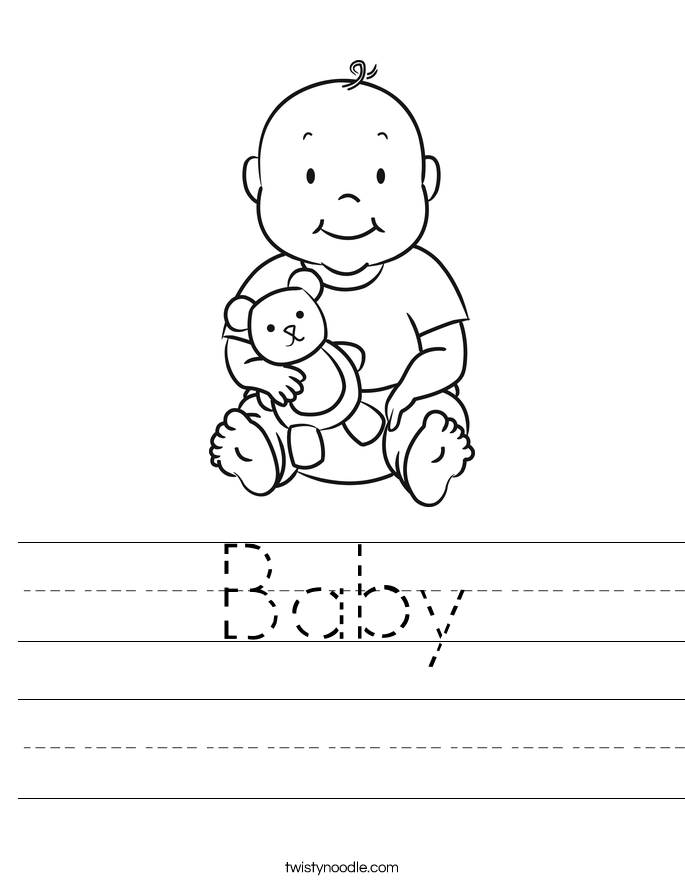 Baby Worksheet  Twisty Noodle