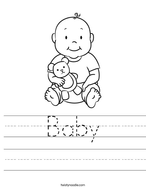 Baby Worksheet  Twisty Noodle