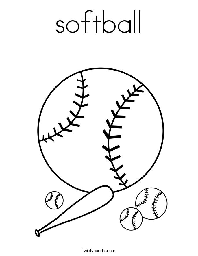 Softball Printable Coloring Pages