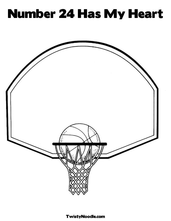 Coloring Sheets Basketball
