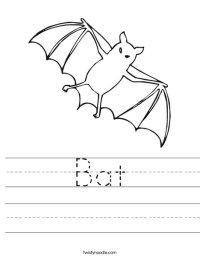 Bat Worksheet - Twisty Noodle