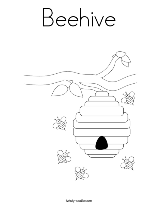 coloring pages beehive coloring page cartoon