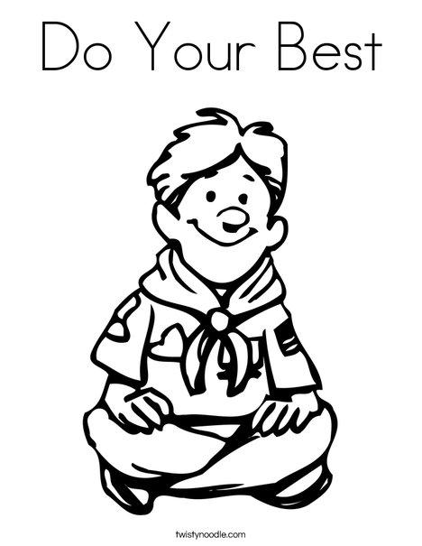 Scout Scout Scout Coloring Page Cursive