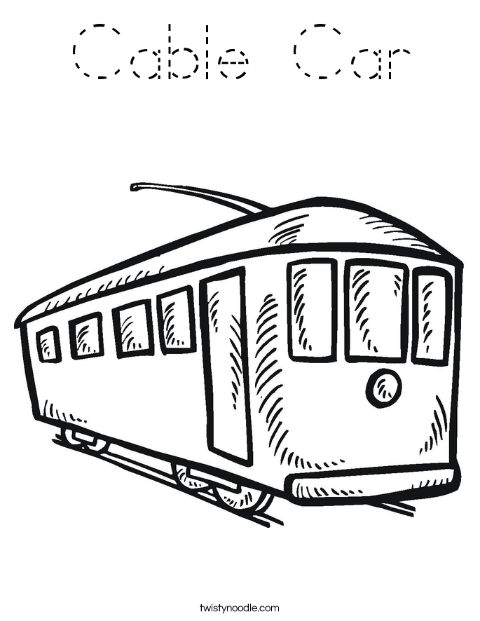 Cable Car Coloring Page