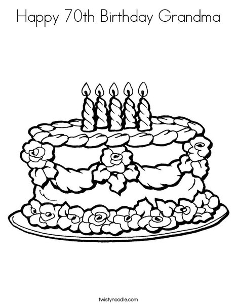 happy th birthday grandma coloring page  twisty noodle