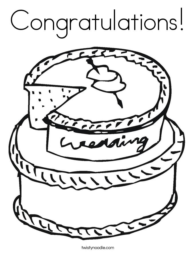 Congratulations Coloring Page  Twisty Noodle