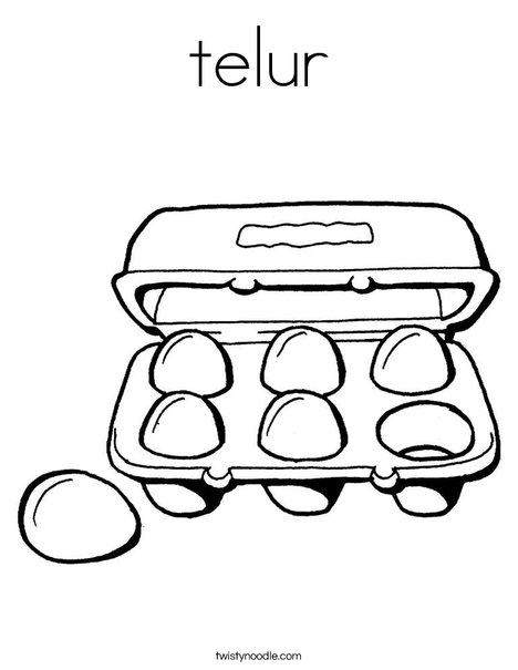 Six Eggs Coloring Page