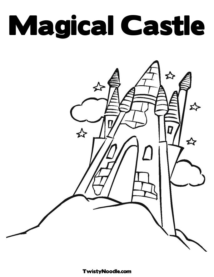 Castle Coloring Pages Magical Page