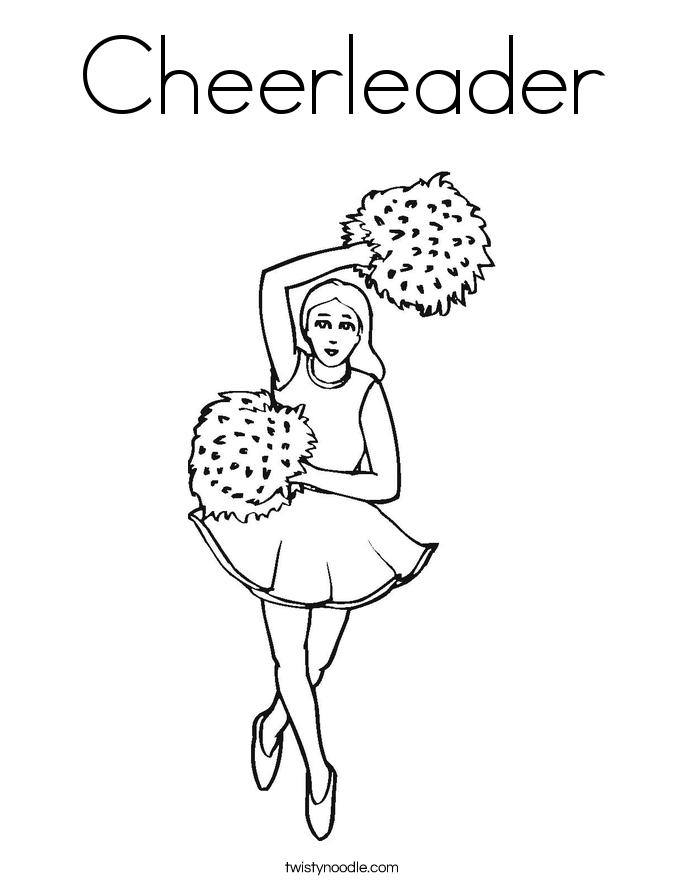 cheerleader coloring page  twisty noodle