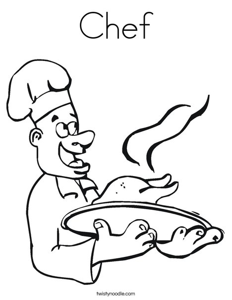 chef coloring page  twisty noodle