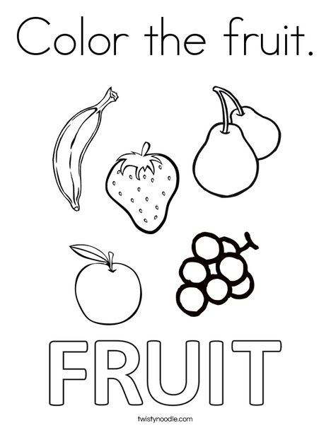 fruit coloring page # 35