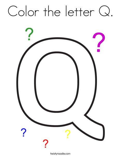 color the letter q coloring page  twisty noodle