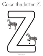 letter z coloring page # 10