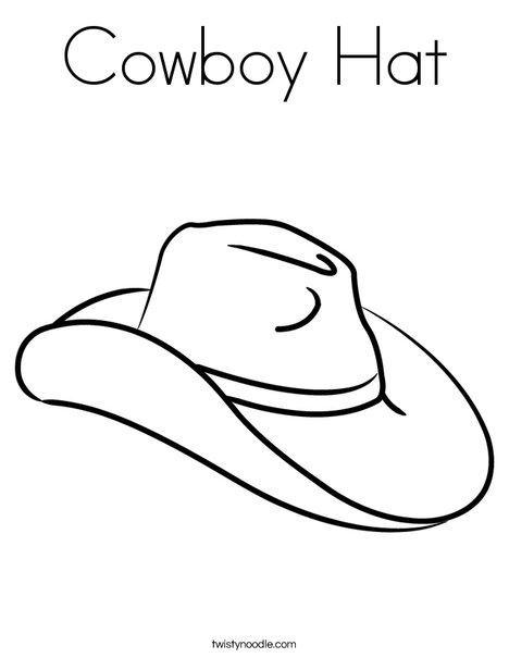 cowboy hat coloring page # 8