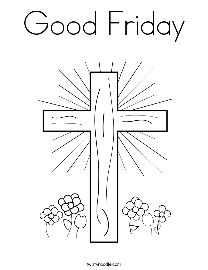 Good friday coloring page twisty noodle, jesus loves me printable coloring pages