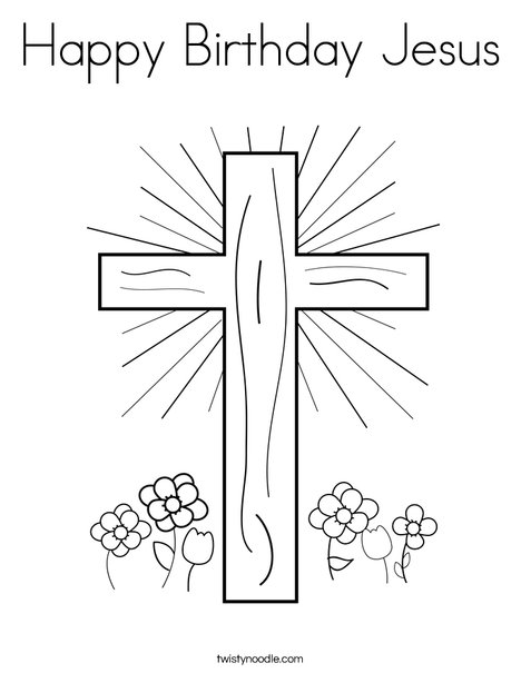 happy birthday jesus coloring page # 8