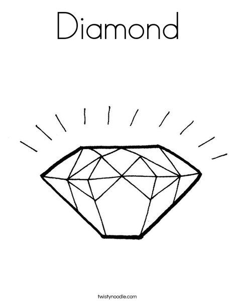 Diamond Coloring Pages : diamond, coloring, pages, Diamond, Coloring, Twisty, Noodle
