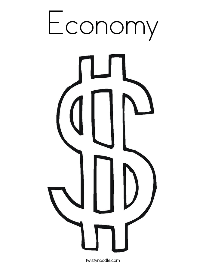 Dollar Sign Coloring Pages