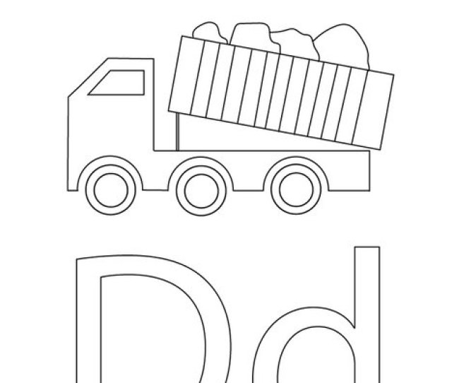 Dump Truck Coloring Page Twisty Noodle