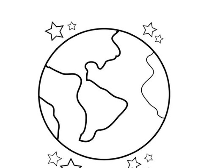 Earth Coloring Page Twisty Noodle