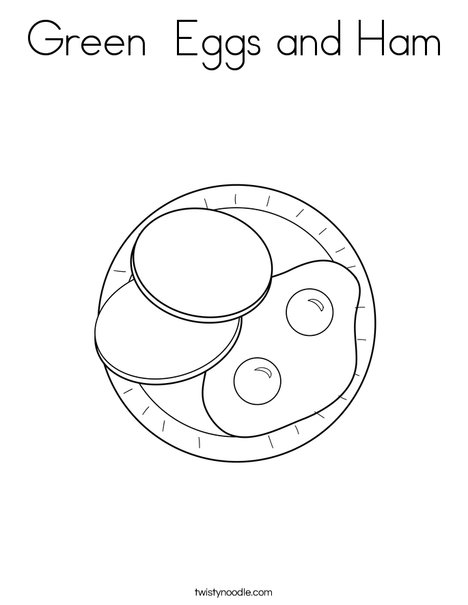 green eggs and ham coloring page # 7