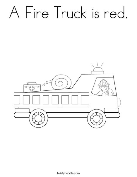 Fire Engine Coloring Pages : engine, coloring, pages, Truck, Coloring, Twisty, Noodle