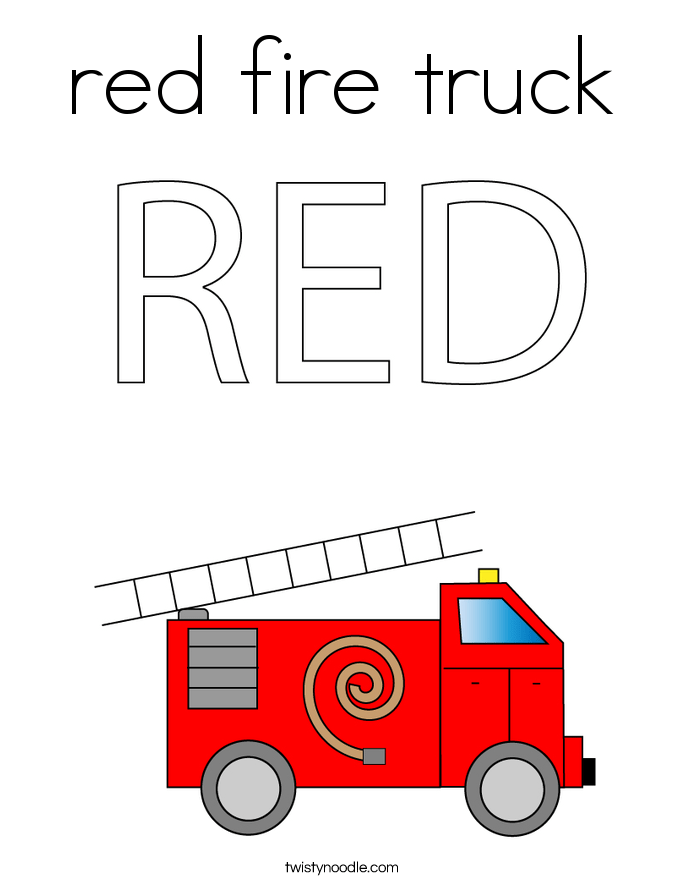 Fire Truck T Box Favor Printable Color Template By