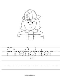 Firefighter Worksheet - Twisty Noodle