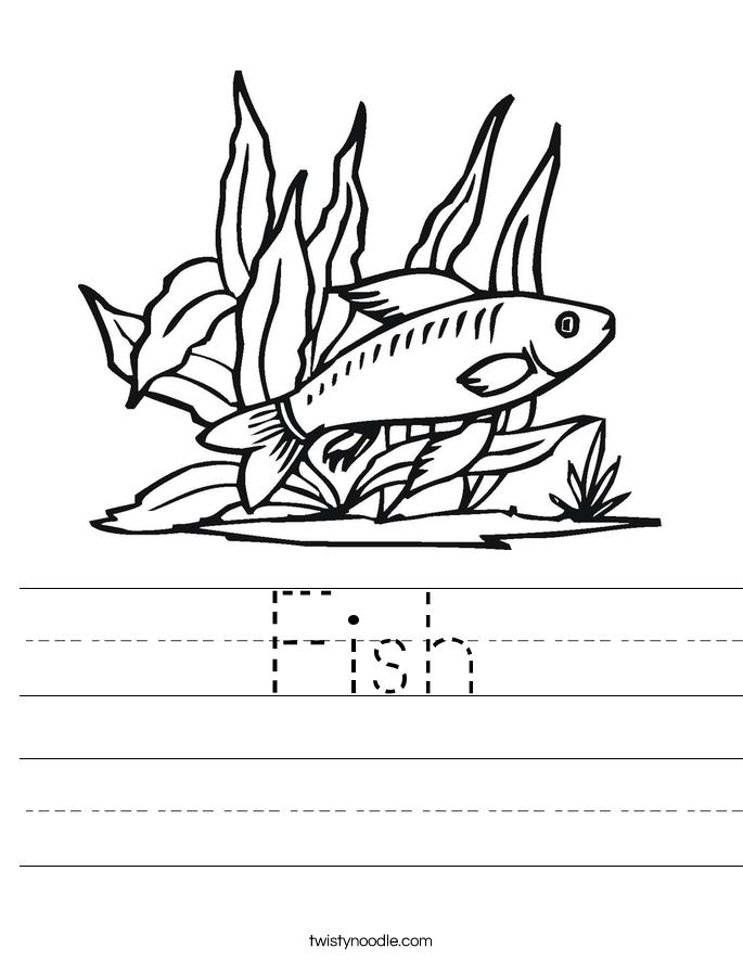 Fish Worksheet  Twisty Noodle