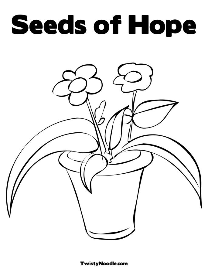 Free coloring pages of seed growing
