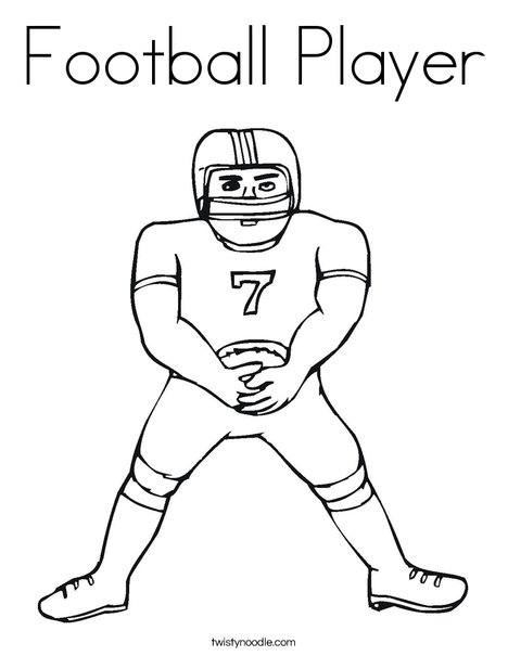 Football Player Coloring Page Twisty Noodle