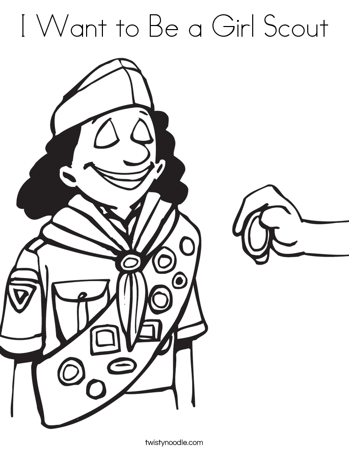 Hiking Girl Coloring Page