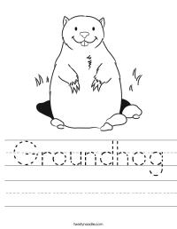 Groundhog Worksheet - Twisty Noodle