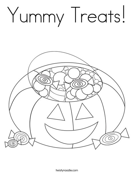 yummy treats coloring page  twisty noodle