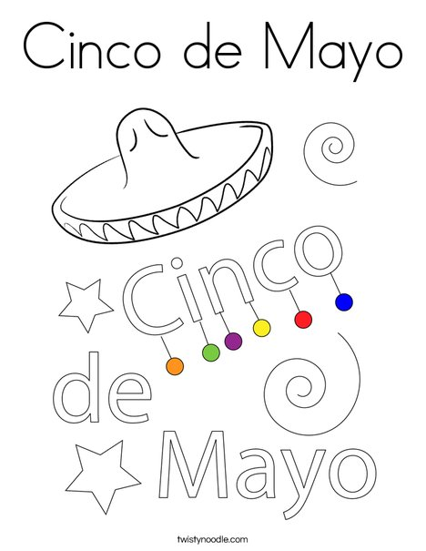 Cinco De Mayo Coloring Page Twisty Noodle