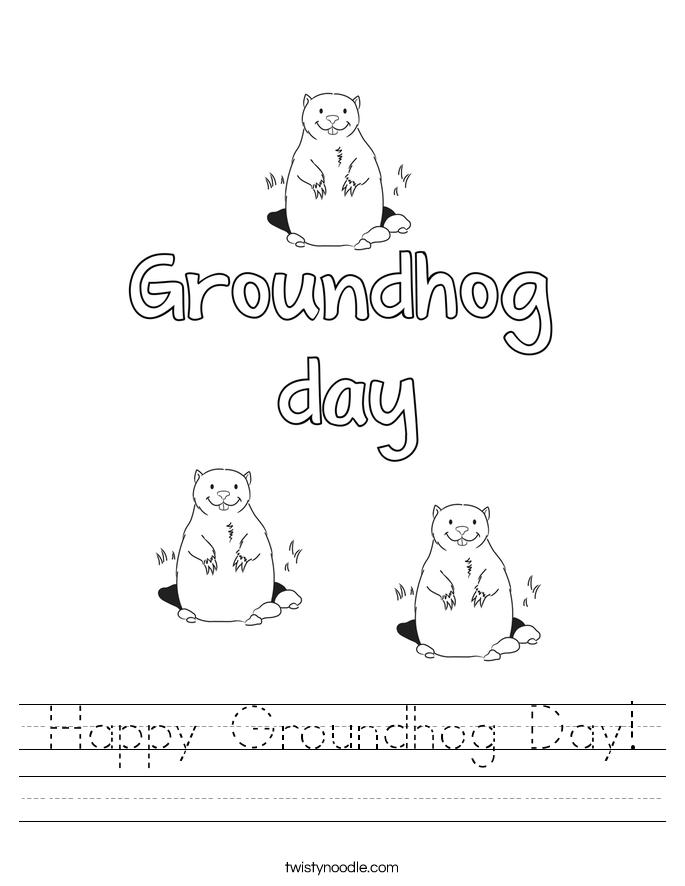 Happy Groundhog Day Worksheet