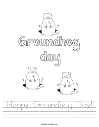 Happy Groundhog Day Worksheet - Twisty Noodle