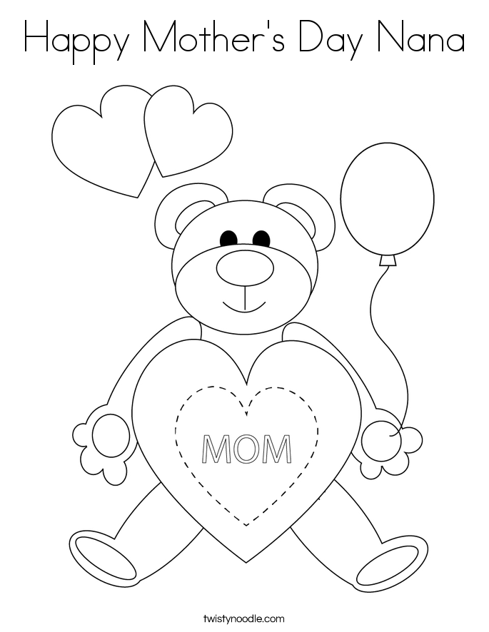 Nanny Is The Best Coloring Page