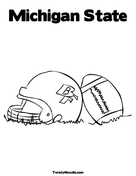 Free msu coloring pages