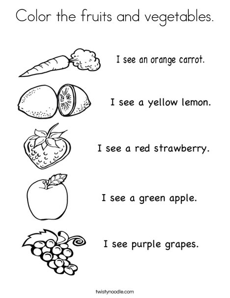 fruit and vegetable coloring pages # 10