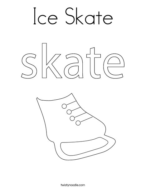 Ice Skates Coloring Pages : skates, coloring, pages, Skate, Coloring, Twisty, Noodle