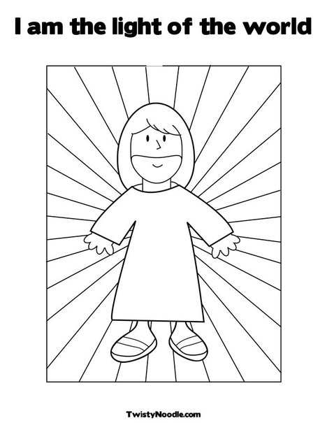 I Am The Bread Of Life Coloring Page For Children Sketch